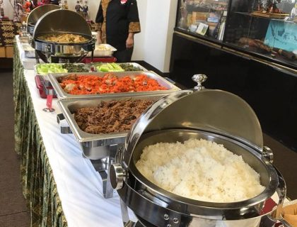 Catering event at the Indonesian Consulate